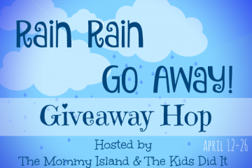 {Giveaway} Rain Rain Go Away Giveaway Hop (#win a box of books!) #AprilShowers