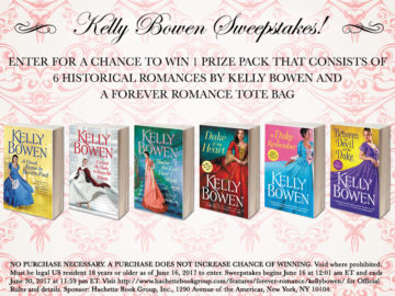 {Giveaway} #KellyBowenSweepstakes @kellybowen09 @ForeverRomance
